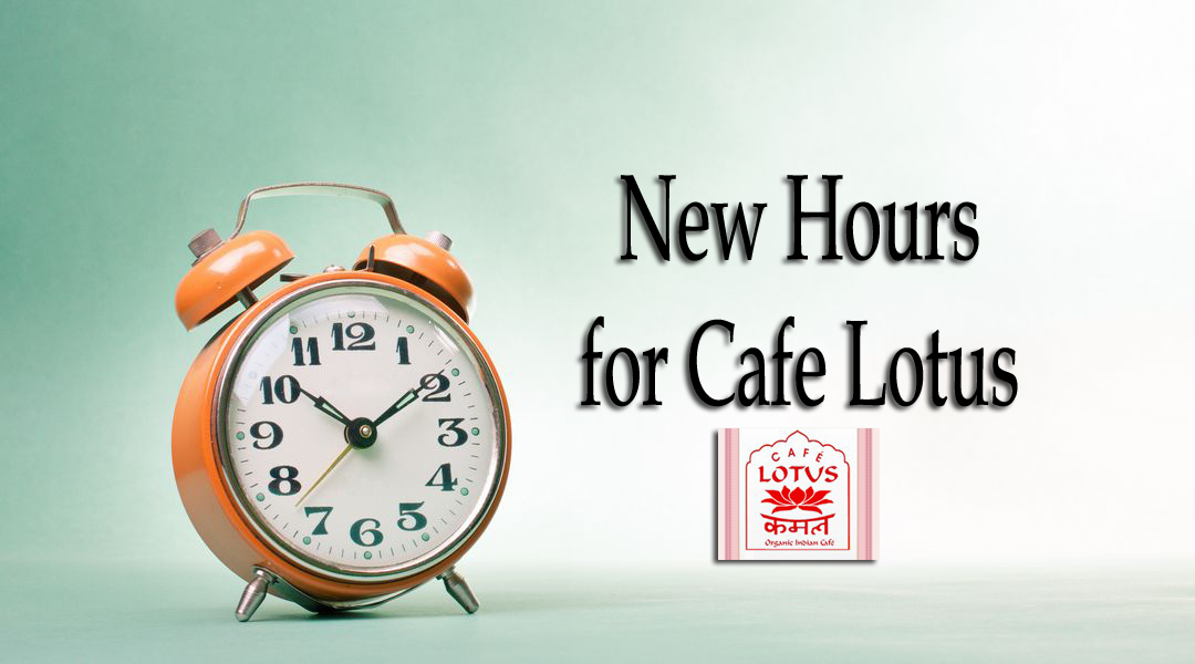 New Hours for Cafe Lotus
