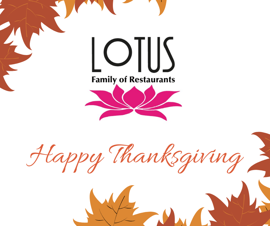 Free Thankgiving dinner by Lotus Family of Restaurants