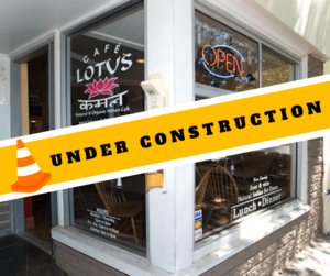 Cafe Lotus: Under Construction from February 4 to 10